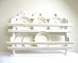 vintage plate rack wall holder tea cup shelf storage kitchen