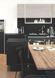 cuisine avec table cuisine design moderne bois avec ilot table bar style