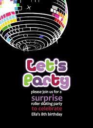 free printable disco party invitations templates 80s party