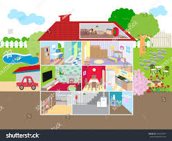 picture showing inside house stock vector 344297441 shutterstock