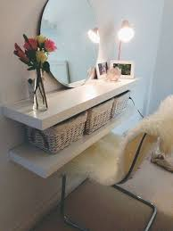 ikea small dressing table 10 ikea floating shelves as a dressing table new room