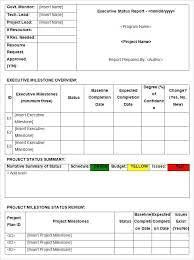 weekly progress report template project management software development status report template weekly status