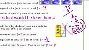 go math 5th lesson 7 5 compare fraction factors and products youtube