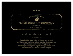 gift card company cooking class gift cards plum s cooking company