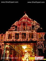 temple mandir decoration at ganesh chaturthi gharexpert