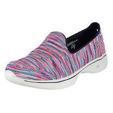 skechers go walk 4 merge multi color womens walking shoe size 9m