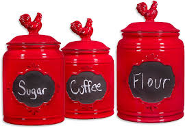 kitchen canisters red set kitchen canisters traditional canister