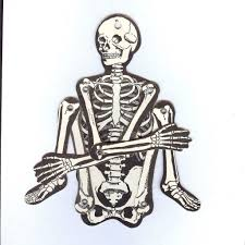 vintage joined skeleton halloween decoration beistle company