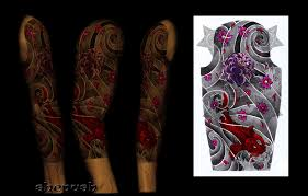 3 4 japanese sleeve by shepush on deviantart