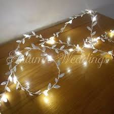 led fairy string lights silver leaves wire led fairy string lights battery garland christmas