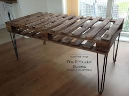 how to build a dining room table with leaves dining room table made of salvage pallet hometalk