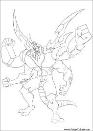 drawings paint u0026 colour ben 10 print design 013