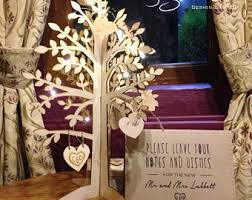 wedding wishes tree wedding wishing tree etsy