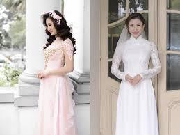ao dai cuoi dep nguyệt ánh đẹp kiêu sa trong tà áo dài cưới truyền thống