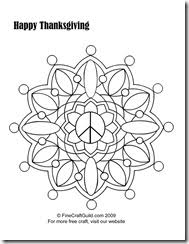 free thanksgiving coloring pages to print mandala scarecrow