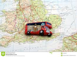 London Bus Map London Bus Magnet Over England Map Stock Photo Image Of Concept
