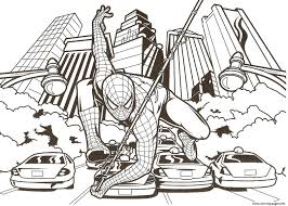 spiderman coloring pages free download printable