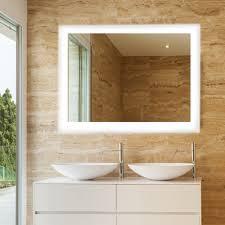 Vanity Bathroom Mirrors Dyconn Royal 48 In X 36 In Led Wall Mounted Backlit Vanity