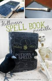 craftaholics anonymous free halloween spell book printable