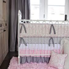Pink Gray Crib Bedding Nursery Beddings Pink And Gray Crib Bedding Walmart With Etsy