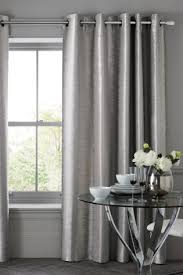 Black And Silver Curtains Striped Curtains Striped Eyelet Curtains Next Official Site