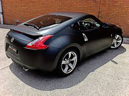 nissan 370z matte black vehicle vinyl wrapping and car paint protection 1
