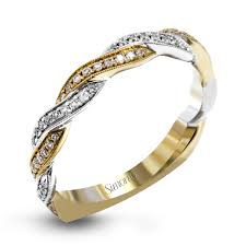 white gold engagement ring yellow gold wedding band 18k white gold twisted design diamond wedding band fabled collection