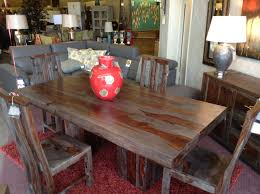 Distressed Dining Room Table Outstanding Distressed Dining Table And Chairs For Black Rooms