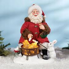 clothtique santa its smore lighted clothtique santa figurine