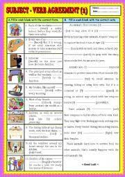 subject u2013 verb agreement u2013 fun and printable third grade grammar