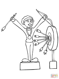 funny archer coloring page free printable coloring pages