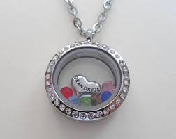 necklace birthstones floating charm locket necklace birthstones necklace mothers