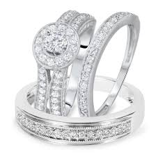 Trio Wedding Ring Sets by Jewelry Rings Hers Trio Wedding Ring Sets Under Dollars