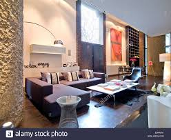 open plan double height living room in barbican apartment london