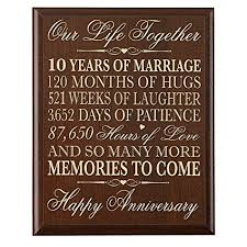 12 year anniversary gift for 10th wedding anniversary wall plaque gifts for