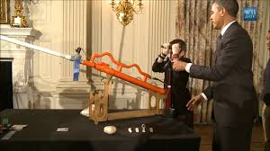 obama shoots air cannon in white house state dining room youtube