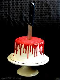 bloody halloween cake say it with cake