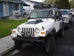 jeep removable top surco wrangler safari removable top rack w basket kit 97 06