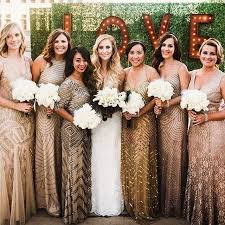 sequin bridesmaid dresses best 25 gold bridesmaids ideas on glitter bridesmaid