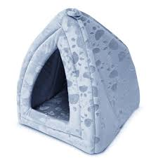 Dog Igloos Luxury Pet Igloo Dog Cat Soft Comfy House Bed Igloo Blue Amazon