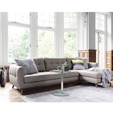 light brown leather corner sofa marseille leather right hand corner sofa light grey dwell