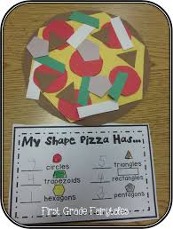 first grade fairytales math monday linky shape pizzas a