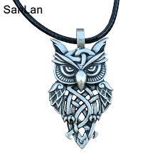 owl jewelry necklace images Sanlan brand celtic owl necklace vintage owl pendant in pendant jpg