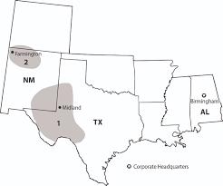 Midland Texas Map 10 K