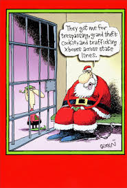 santa in jail box of 12 funny humorous christmas cards by nobleworks