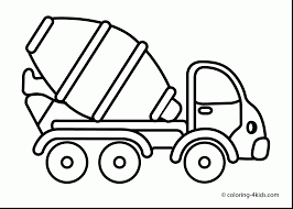 spectacular cement mixer truck coloring page with transportation