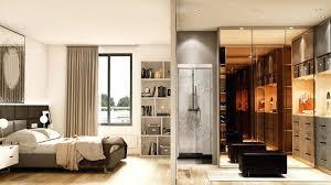 salle de bain chambre idee d amenagement une chambre avec dressing et salle de bain une