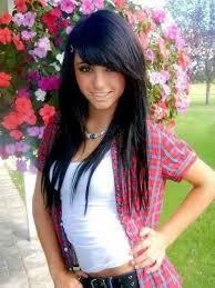 black hair swoop bang black hair straight layered bangs hair pinterest regarding