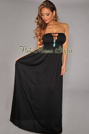black maxi dress cut out cover up strapless maxi dress