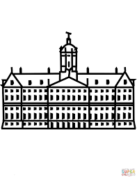 stadhuis van rotterdam coloring page free printable coloring pages